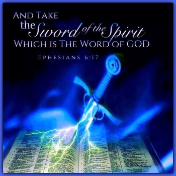 Ephesians 6:17 And take the helmet of salvation, and the sword of the  Spirit, which is the word o: Bible Alive